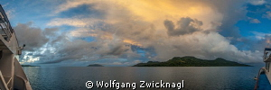 180 degree sunset Panorama, taken @Thorfinn by Wolfgang Zwicknagl